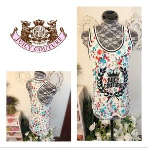 NWOT Juicy Couture Paint Splatter Graphic Tank